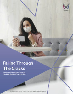 FALLING THROUGH THE CRACKS: COVID-19 Survey of Underrepresented Founders - Survey Cover Title Image