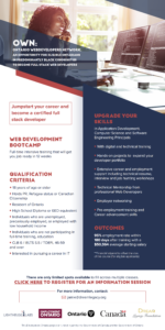 Dream Legacy Foundation - OWN (Ontario Web Developers Network) Info Session Poster